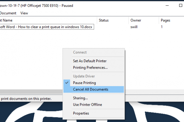 Print queue clear multiple files from print queue