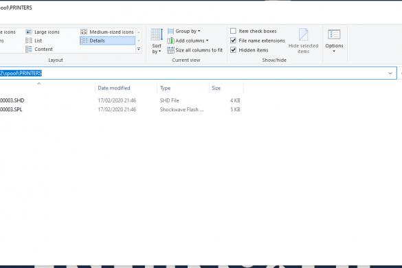 Print spooler directory windows 10