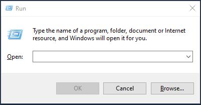Windows 10 Run Command Window